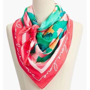 "LuLu dk for Talbots floral ""Love"" silk scarf"